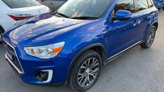 2016 Mitsubishi ASX XB MY15.5 LS 2WD Lightning Blue 6 Speed Constant Variable Wagon.
