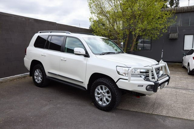 Used Toyota Landcruiser VDJ200R Sahara South Melbourne, 2016 Toyota Landcruiser VDJ200R Sahara White 6 Speed Sports Automatic Wagon