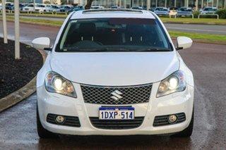 2012 Suzuki Kizashi FR MY11 Prestige White 6 Speed Constant Variable Sedan.