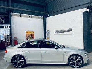 2014 Audi A4 B8 8K MY14 S Line S Tronic Quattro Silver 7 Speed Sports Automatic Dual Clutch Sedan.
