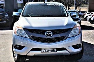 2012 Mazda BT-50 UP0YF1 XTR 4x2 Hi-Rider Silver 6 Speed Sports Automatic Utility.