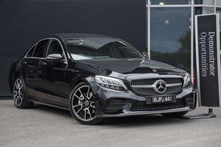 2021 Mercedes-Benz C-Class W205 801MY C300 9G-Tronic Obsidian Black 9 Speed Sports Automatic Sedan.