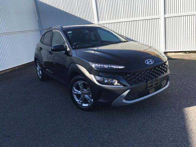 New Hyundai Kona Os.v4 MY21 Active 2WD Gladstone, 2021 Hyundai Kona Os.v4 MY21 Active 2WD Black 8 Speed Constant Variable Wagon