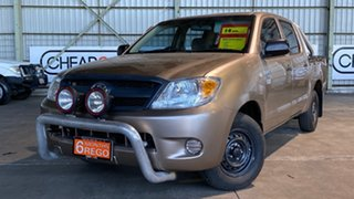 2006 Toyota Hilux TGN16R MY05 Workmate 4x2 Brown 5 Speed Manual Utility.