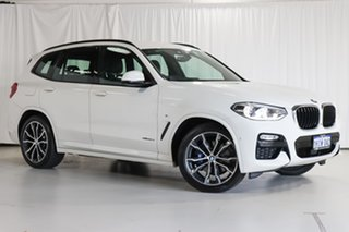 2018 BMW X3 G01 xDrive30d Steptronic White 8 Speed Automatic Wagon.