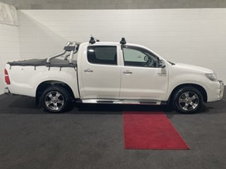 2013 Toyota Hilux GGN15R MY12 SR5 Double Cab 4x2 White 5 Speed Automatic Utility