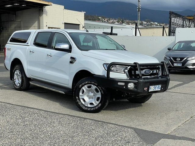 Used Ford Ranger PX MkII 2018.00MY XLT Double Cab Moonah, 2018 Ford Ranger PX MkII 2018.00MY XLT Double Cab White 6 Speed Sports Automatic Utility