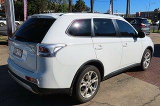 2014 Mitsubishi Outlander ZJ MY14 LS (4x4) White Continuous Variable Wagon.