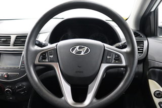 2015 Hyundai Accent RB2 MY15 Active White 4 Speed Sports Automatic Hatchback