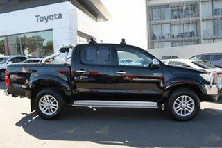 2015 Toyota Hilux KUN26R MY14 SR5 Double Cab Black 5 Speed Automatic Utility.