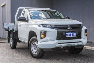 2021 Mitsubishi Triton MR MY22 GLX 4x2 White 5 Speed Manual Cab Chassis.