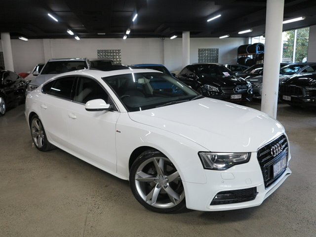 Used Audi A5 8T MY16 Sportback Multitronic Albion, 2015 Audi A5 8T MY16 Sportback Multitronic White 8 Speed Constant Variable Hatchback