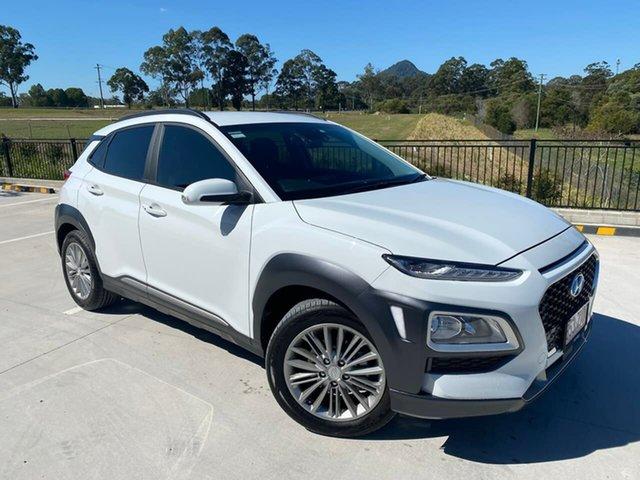 Used Hyundai Kona OS.3 MY20 Elite 2WD Cooroy, 2019 Hyundai Kona OS.3 MY20 Elite 2WD White 6 Speed Sports Automatic Wagon