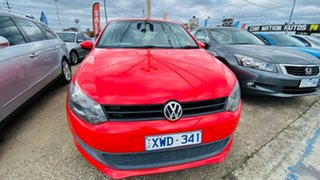2010 Volkswagen Polo 6R MY11 Trendline DSG Red 7 Speed Sports Automatic Dual Clutch Hatchback.