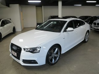 2015 Audi A5 8T MY16 Sportback Multitronic White 8 Speed Constant Variable Hatchback.