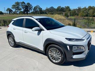 2019 Hyundai Kona OS.3 MY20 Elite 2WD White 6 Speed Sports Automatic Wagon.