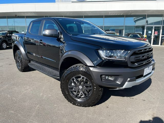 Used Ford Ranger PX MkIII 2020.25MY Raptor Essendon Fields, 2020 Ford Ranger PX MkIII 2020.25MY Raptor Black 10 Speed Sports Automatic Double Cab Pick Up