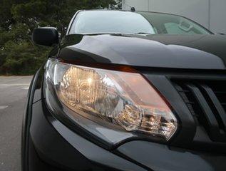 2018 Mitsubishi Triton MQ MY18 GLX+ Double Cab Black 6 Speed Manual Utility.