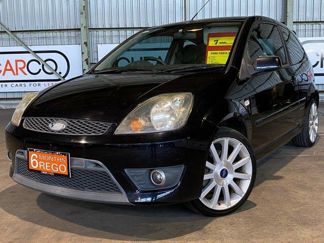 Used Ford Fiesta WQ XR4 Rocklea, 2008 Ford Fiesta WQ XR4 Black 5 Speed Manual Hatchback