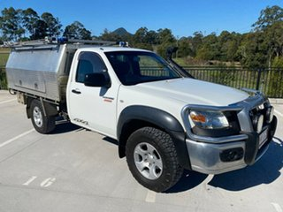 2009 Mazda BT-50 UNY0E4 DX White 5 Speed Manual Cab Chassis.