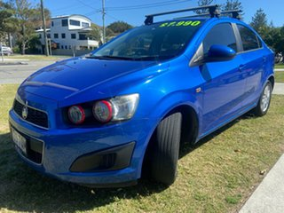 2013 Holden Barina TM MY13 CD Blue 5 Speed Manual Sedan.