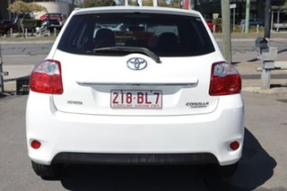 2010 Toyota Corolla ZRE152R MY11 Ascent White 6 Speed Manual Hatchback