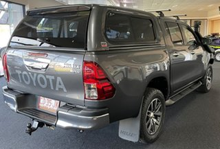 2018 Toyota Hilux GUN126R SR5 Double Cab Charcoal 6 Speed Manual Utility.