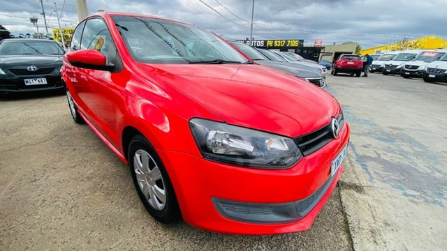 Used Volkswagen Polo 6R MY11 Trendline DSG Maidstone, 2010 Volkswagen Polo 6R MY11 Trendline DSG Red 7 Speed Sports Automatic Dual Clutch Hatchback