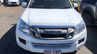 2015 Isuzu D-MAX MY15 SX Crew Cab White 5 Speed Manual Cab Chassis.