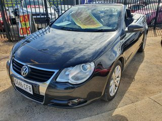 2009 Volkswagen EOS 1F MY09 147TSI DSG Black 6 Speed Sports Automatic Dual Clutch Convertible.