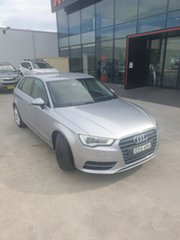2014 Audi A3 8V Attraction Sportback S Tronic Silver, Chrome 7 Speed Sports Automatic Dual Clutch.