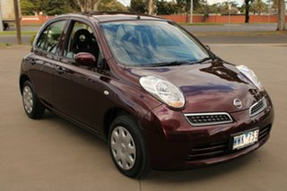2008 Nissan Micra K12 Burgundy 4 Speed Automatic Hatchback.