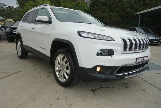 Used Jeep Cherokee KL Limited East Maitland, 2014 Jeep Cherokee KL Limited White 9 Speed Sports Automatic Wagon