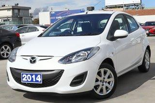 2014 Mazda 2 DE10Y2 MY14 Neo Sport White 5 Speed Manual Hatchback.