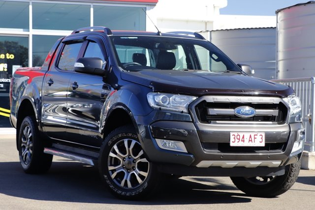 Used Ford Ranger PX MkII Wildtrak Double Cab Toowoomba, 2015 Ford Ranger PX MkII Wildtrak Double Cab Grey 6 Speed Sports Automatic Utility
