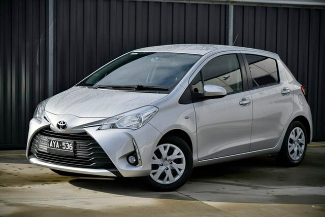 Used Toyota Yaris NCP131R SX Pakenham, 2018 Toyota Yaris NCP131R SX Silver 4 Speed Automatic Hatchback