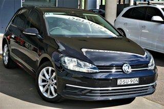 2017 Volkswagen Golf 7.5 MY18 110TSI DSG Comfortline Black 7 Speed Sports Automatic Dual Clutch.