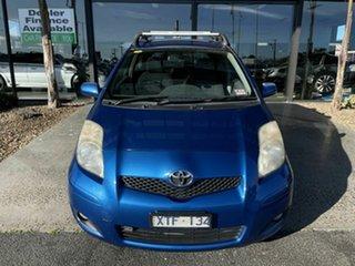 2009 Toyota Yaris NCP90R 08 Upgrade Edge Blue 5 Speed Manual Hatchback.