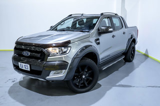 2015 Ford Ranger PX MkII Wildtrak Double Cab Silver 6 Speed Sports Automatic Utility.
