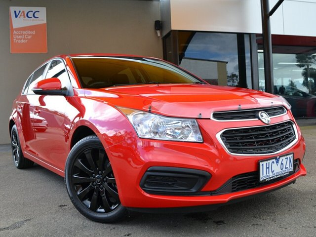 Used Holden Cruze JH Series II MY16 Equipe Fawkner, 2016 Holden Cruze JH Series II MY16 Equipe Red 6 Speed Sports Automatic Hatchback