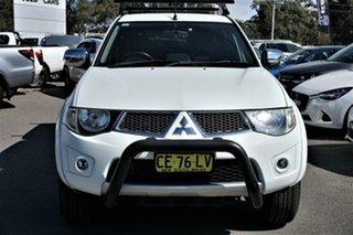 2015 Mitsubishi Triton MN MY15 GLX-R Double Cab White 5 Speed Sports Automatic Utility.