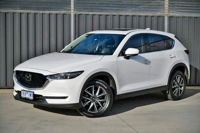Used Mazda CX-5 KF4W2A Akera SKYACTIV-Drive i-ACTIV AWD Pakenham, 2017 Mazda CX-5 KF4W2A Akera SKYACTIV-Drive i-ACTIV AWD White 6 Speed Sports Automatic Wagon