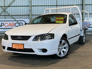 2007 Ford Falcon BF Mk II XL Super Cab White 4 Speed Automatic Cab Chassis.