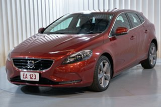 2013 Volvo V40 M Series MY13 D4 Adap Geartronic Luxury Red 6 Speed Sports Automatic Hatchback.