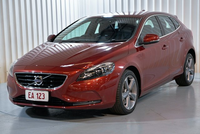 Used Volvo V40 M Series MY13 D4 Adap Geartronic Luxury Hendra, 2013 Volvo V40 M Series MY13 D4 Adap Geartronic Luxury Red 6 Speed Sports Automatic Hatchback