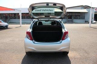 2013 Toyota Yaris NCP130R YR Silver Pearl 5 Speed Manual Hatchback