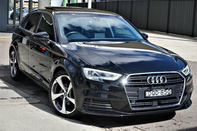 Used Audi A3 8V MY17 Sportback S Tronic Phillip, 2017 Audi A3 8V MY17 Sportback S Tronic Black 7 Speed Sports Automatic Dual Clutch Hatchback