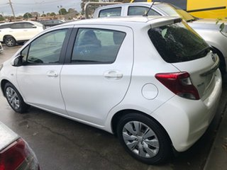 2015 Toyota Yaris NCP130R Ascent Glacier White 4 Speed Automatic Hatchback