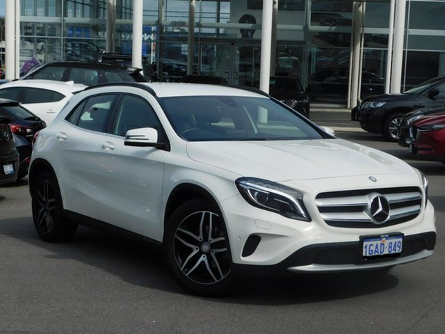 Used Mercedes-Benz GLA-Class X156 806MY GLA180 DCT Osborne Park, 2016 Mercedes-Benz GLA-Class X156 806MY GLA180 DCT White 7 Speed Sports Automatic Dual Clutch Wagon