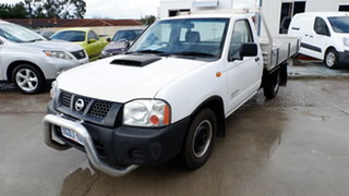 2008 Nissan Navara D22 MY2008 DX 4x2 White 5 Speed Manual Cab Chassis.